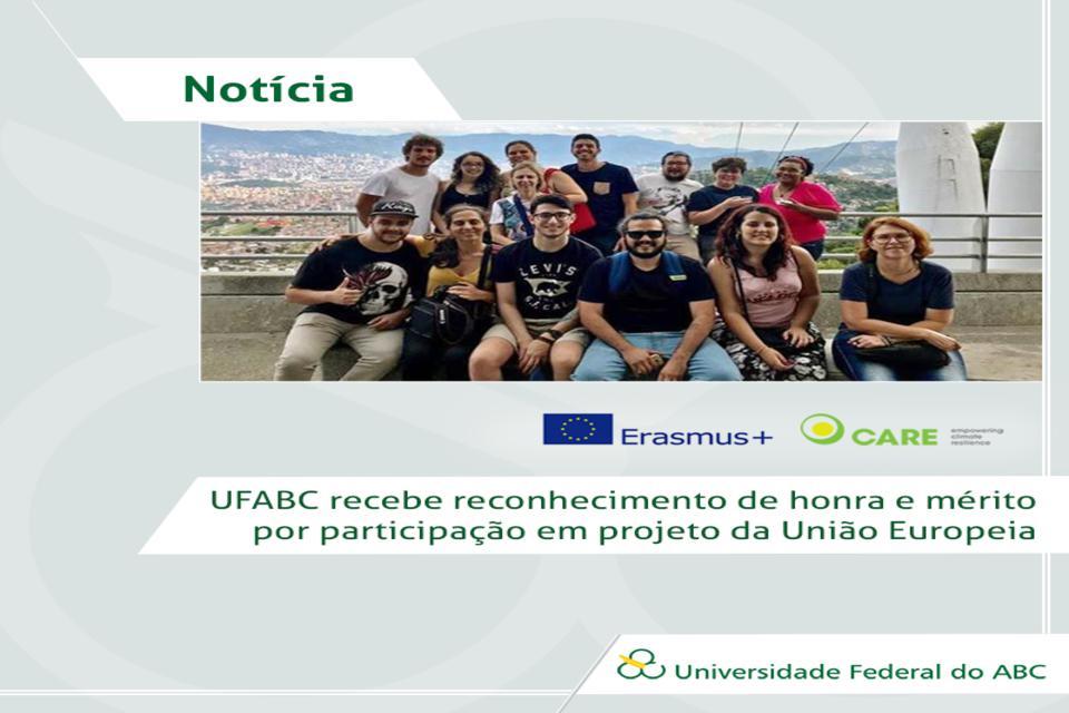 UFABC recebe reconhecimento de honra e mérito por participação em projeto da UE